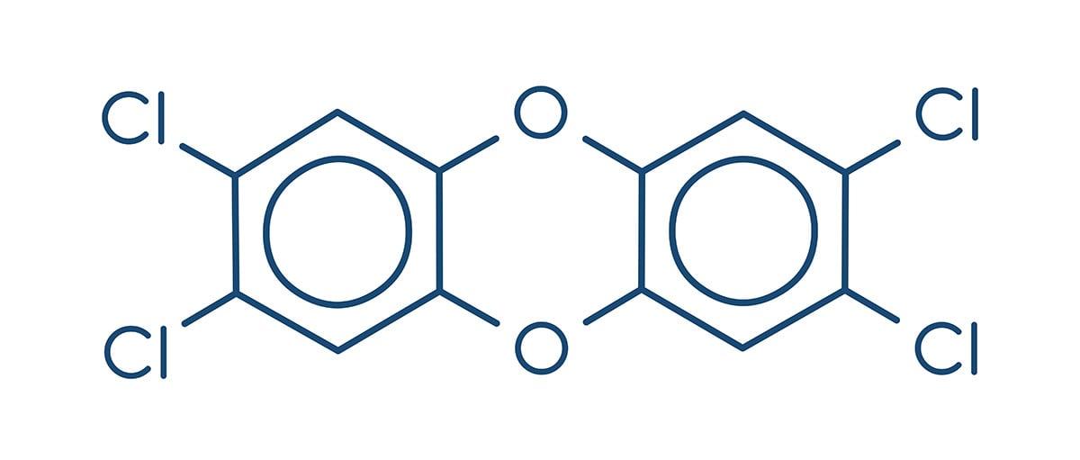 dioxin-skeletal-formula